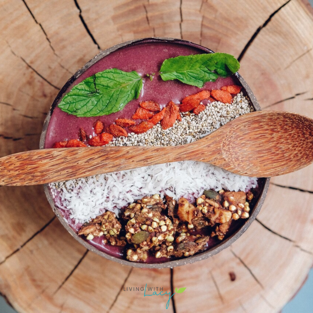Acai Bowl loaded with granola and toppings